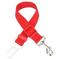 Автомобильный ремень безопасности для собаки GoodTrip 43-72 см Red HbP050621, КОД: 1358233
