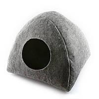 Домик для кошки Digitalwool Палатка с подушкой Серый DW-91-03, КОД: 218810