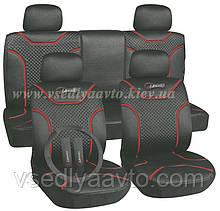 Чехлы на сиденья универсальные MILEX/Classic AG-7262/4 полный к-т/2пер+2задн+5подг/серые