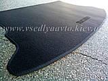 Ворсовый коврик в багажник NISSAN Tiida седан  (Серый), фото 2