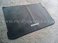 Ворсовый коврик в багажник RENAUIT Iaguna 2 седан с 2001- (Серый)