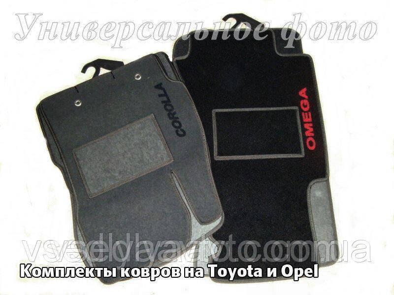 Ворсовые коврики Тойота HighIander с 2008-2014 г.