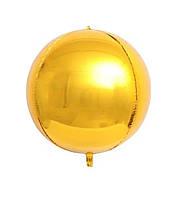 """Фольгована кулька сфера золото 22"""" (55 см) Китай"""