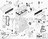 Комплект прокладок 1.3MJTD 16v Doblo 71744285+71744286