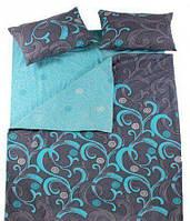 Комплект постельного белья Вилюта Двухспальный 175х210 см Серый с мятным hubNwlF43287, КОД: 1384018