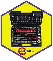 Набор инструментов INTERTOOL ET-6108 Cr-V. Ручной инструмент 1/2 и 1/4 (108 предметов)
