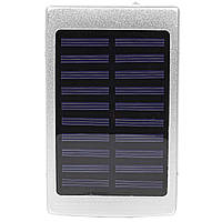 Power bank Solar PB-6 Silver 20000 mAh повер банк портативное зарядное устройство солнечная панел, КОД: 1391837