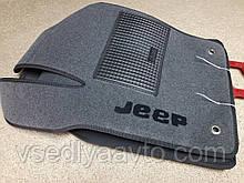 Ворсовые коврики в салон Jeep Crand Cherokee с 2011г.
