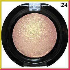Тени для Ве LDM Нежно Розовый с Золотистым Отливом Запеченные Одинарные с Микроблеском Компактные Сет D тон 24