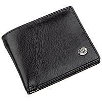 Компактный мужской кошелек ST Leather 18837 Черный, КОД: 1317398