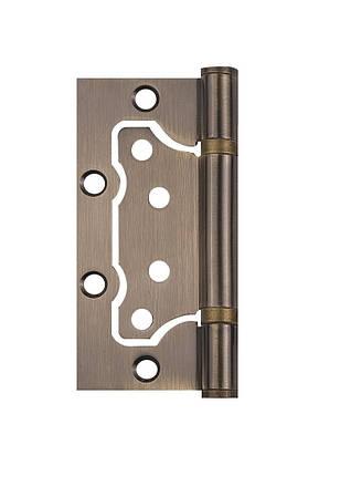 Петля дверна накладна SIBA 100 мм, антична бронза AB