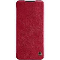 Кожаный чехол (книжка) Nillkin Qin Series для Xiaomi Redmi Note 8T Красный