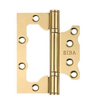 Петля дверна накладна SIBA 100 мм, антична бронза AB полірована латунь