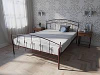 Кровать MELBI Летиция Двуспальная 120190 см Бордовый лак КМ-007-01-5бор, КОД: 1455702