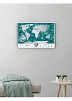 Скретч карта світу« Travel Map Marine World» (англ.) (тубус)