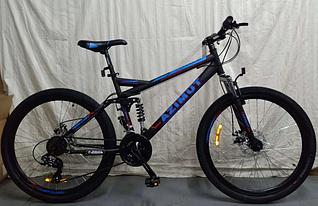 """Спортивний велосипед 26 дюйма Azimut Race Shimano рама 18"""" чорно-синій"""