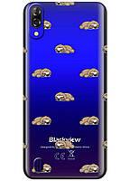 Прозрачный силиконовый чехол iSwag для Blackview A60 с рисунком - Спящие ленивцы H627, КОД: 1429082