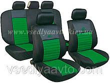 Чехлы на сиденья универсальные MILEX/Tango AG-24016/33 полн к-т/2пер+2задн+5подг+опл/зелёный
