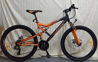 """Спортивный велосипед 26 дюйма Azimut Scorpion Shimano рама 17"""" оранжевый"""