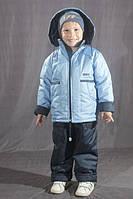 Демисезонный комбинезон для мальчика на флисе Голубой