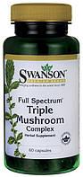 Майтаке, рейши, шиитаке 60 капс.,лечебный комплекс из грибов, Swanson, США, купить, цена, отзывы