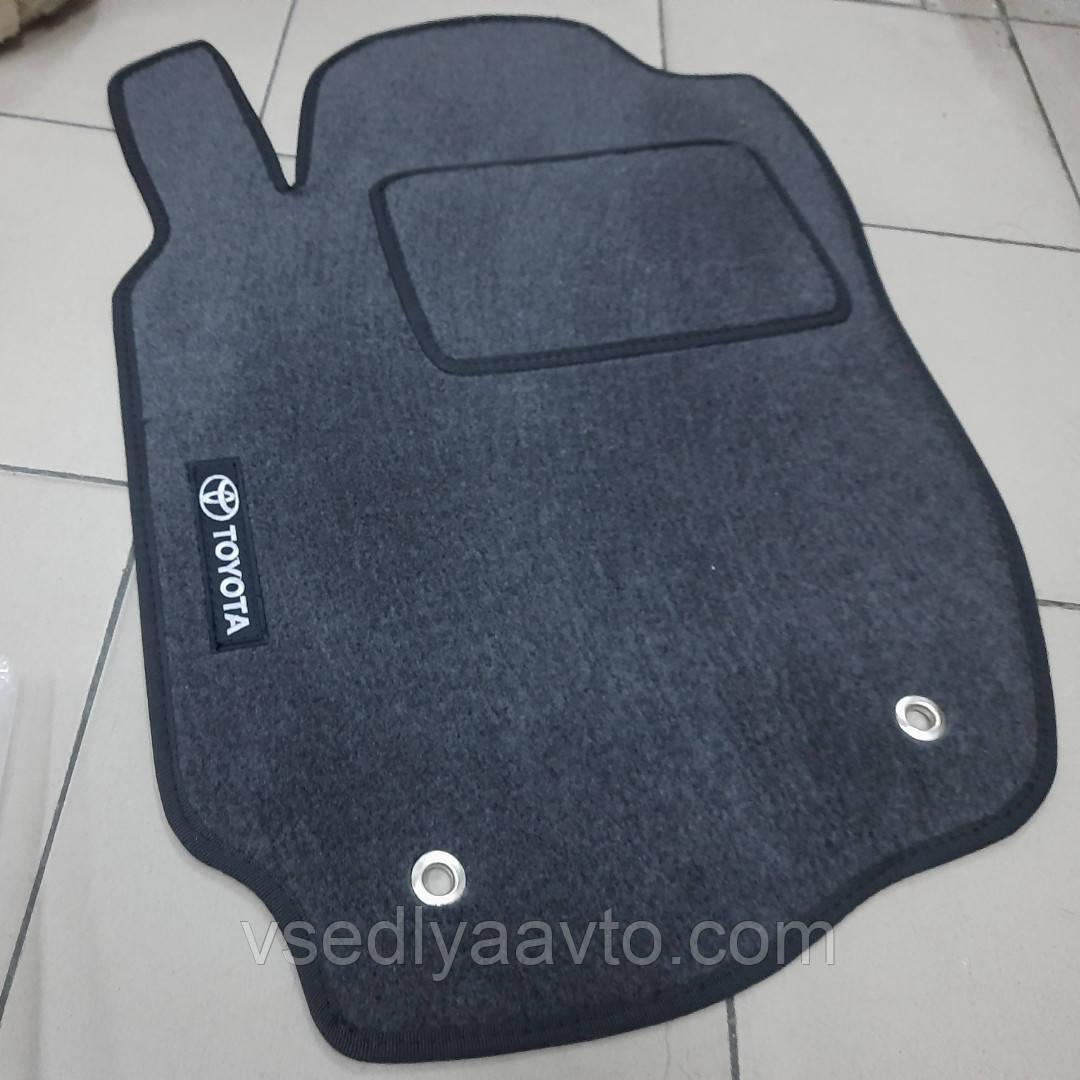 Водительский ворсовый коврик Тойота РАВ4 с 2013 г. (Черные)