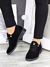 Туфлі чорні замшеві 7271-28