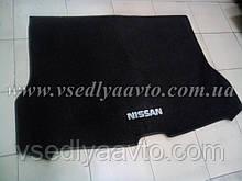 Ворсовый коврик в багажник Nissan X-TraiI T32 с 2017 г. полноразм.