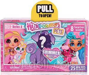 Питомец сюрприз оригинал Хэрдораблс Hairdorables Pets с волосами 2 серия