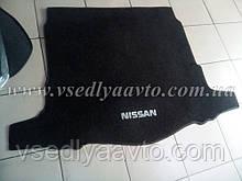 Ворсовый коврик в багажник NISSAN X-TraiI T32 с 2017 г. с докаткой
