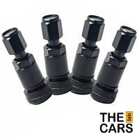 Колесный клапан - комплект 4 шт.  (черный, алюминий)