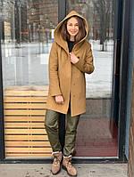 Пальто  демисезонное с капюшоном кемел Sifurs П4-Д-К-КЕМ