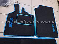 Ворсовые коврики в салон SMART 451 (черные)
