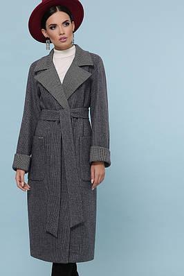 Темно-сіре вовняне пальто