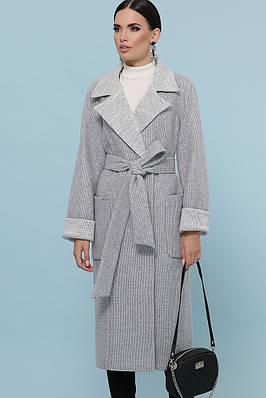 Класичне світло-сіре пальто