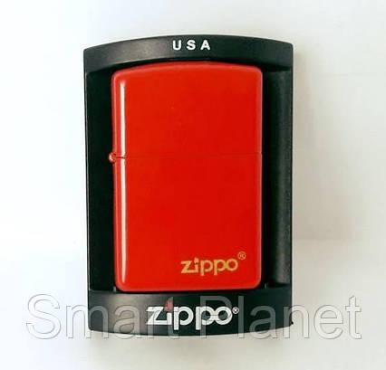 Зажигалка ZIPPO Бензиновая (красная), фото 2