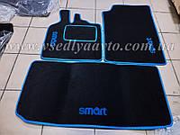 Текстильные коврики для Smart Fortwo 450 (в салон и в багажник)