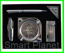 Подарочный Набор 4 в 1 UKRAINE (брелок, ручка, зажигалка и пепельница), фото 2