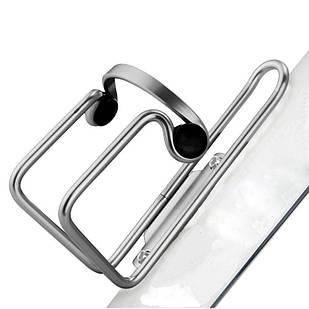 Флягодержатель BC-BH9253 AL з пласт. кліпсами silver
