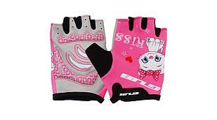 Рукавички велосипедні дитячі GUB S022 рожевий