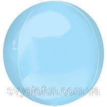 """Фольгированный шар 3D-сфера, пастель G20, голубой,16"""", Anagram"""