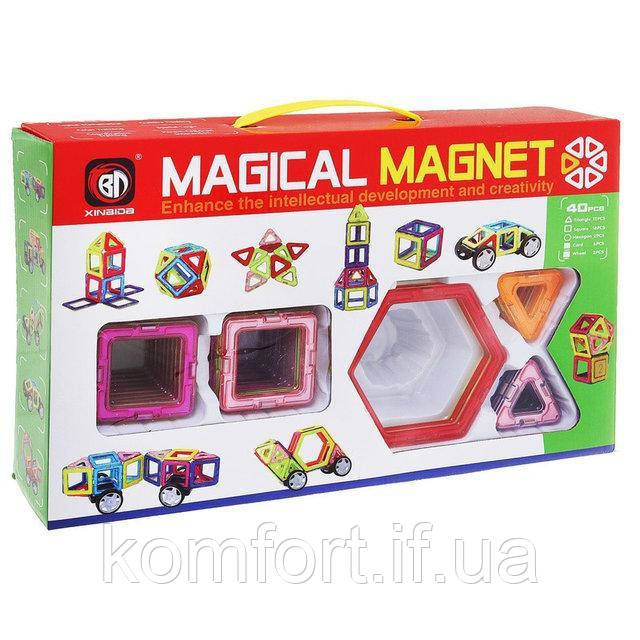 Магнитный конструктор Magical Magnet 40 деталей