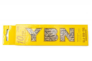 Ланцюг 10ск. 116зв. Gold YBN SLA-H10 з замком