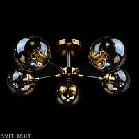Потолочная люстра в стиле лофт 06-2713/5 GD/BK/BR N Svitlight