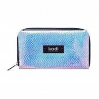 Kodi Professional Чохол для кистей на блискавці №2, колір: сріблясто-блакитний