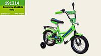 """Велосипед детский 2-х колёсный 12"""" 191214 (1шт) Like2bike RALLY, салатовый, без переднего тормоза"""