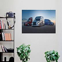 """Постер """"Траки Freightliner на фоне заката"""". Размер 60x43см (A2). Глянцевая бумага, фото 2"""