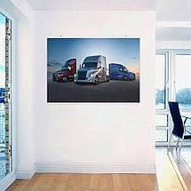 """Постер """"Траки Freightliner на фоне заката"""". Размер 60x43см (A2). Глянцевая бумага, фото 3"""