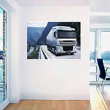 """Постер """"Трак Daf Truck Berserker на трассе у реки"""". Размер 60x43см (A2). Глянцевая бумага, фото 3"""