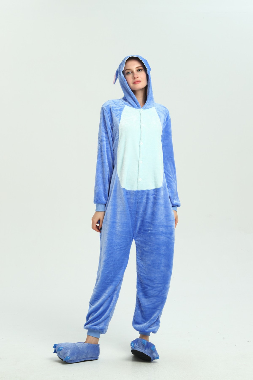 Пижама Кигуруми Стич Размер М комбинезон с кармашком на попе фестивальный костюм